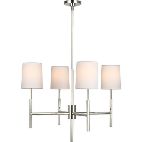Barbara Barry Clarion LED 28 inch Polished Nickel Chandelier Ceiling Light, Small