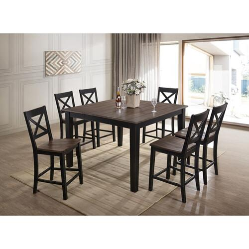 5058 ALACARTE: Black Counter Height Table & 4 Chairs