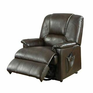 ACME Reseda Recliner w/Power Lift & Massage - 10652 - Brown PU