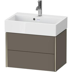 Duravit - Vanity Unit Wall-mounted Compact, Flannel Gray Satin Matte (lacquer)