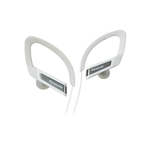 Water-Resistant Sports Clip In-Ear Headphones RP-HSC200-W - White
