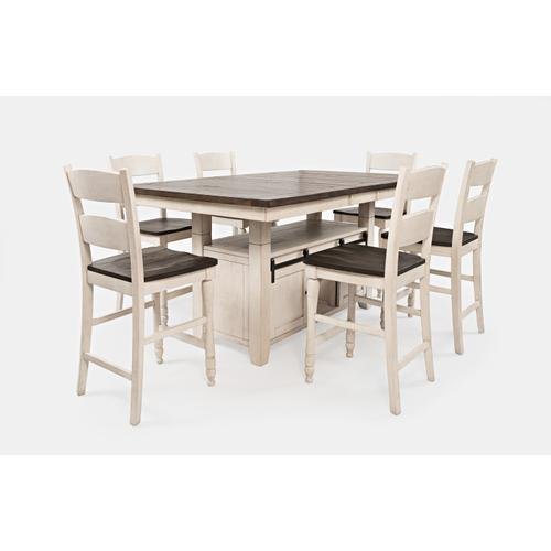 Madison County High/low Table W/(6) Stools