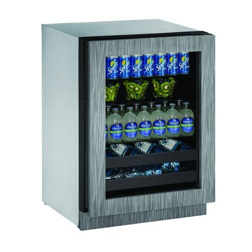"2224bev 24"" Beverage Center With Integrated Frame Finish and Field Reversible Door Swing (115 V/60 Hz Volts /60 Hz Hz)"