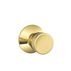 Bell Knob Hall & Closet Lock - Bright Brass Product Image