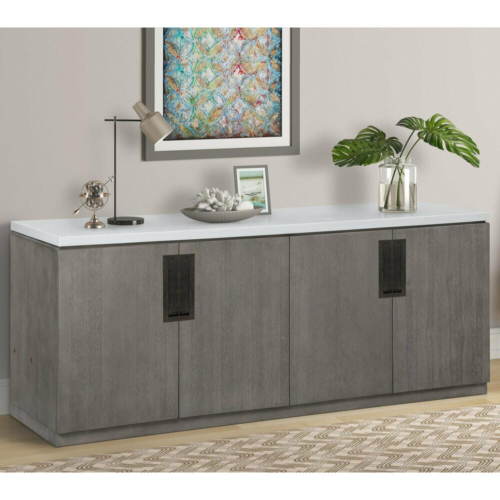 See Details - PURE MODERN Credenza with Quartz top