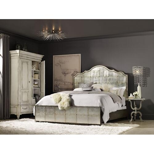 Bedroom Arabella King Mirrored Panel Bed