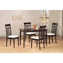 Mason Cappuccino 5 Pc Dining Set