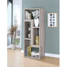 See Details - Contemporary Grey Driftwood Convertible TV Stand and Bookcase
