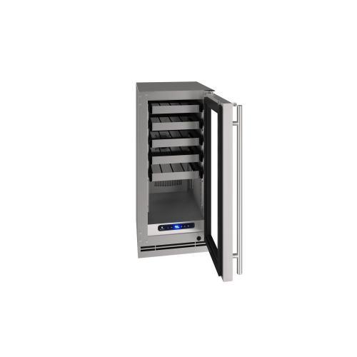"15"" Wine Refrigerator With Stainless Solid Finish (115 V/ 60 Hz Volts / 60 Hz Hz)"