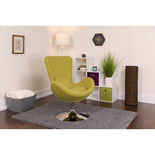 Green Fabric Side Reception Chair