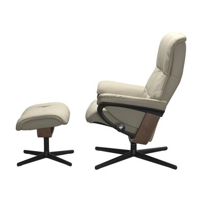 See Details - Stressless® Mayfair (M) Cross Chair with Ottoman