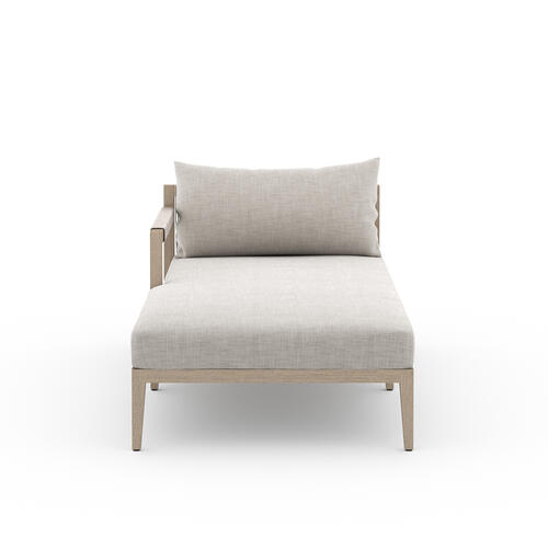 Laf Chaise Piece Configuration Stone Grey Cover Sherwood Outdoor Sectional Pieces, Washed Brown