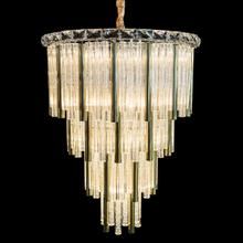 Chimes 15 Light Chandelier 2 PC Set Gold