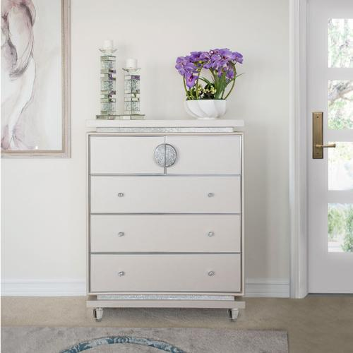 Amini - Upholstered 5 Drawer Vertical Storage Cabinets-chest of Drawers