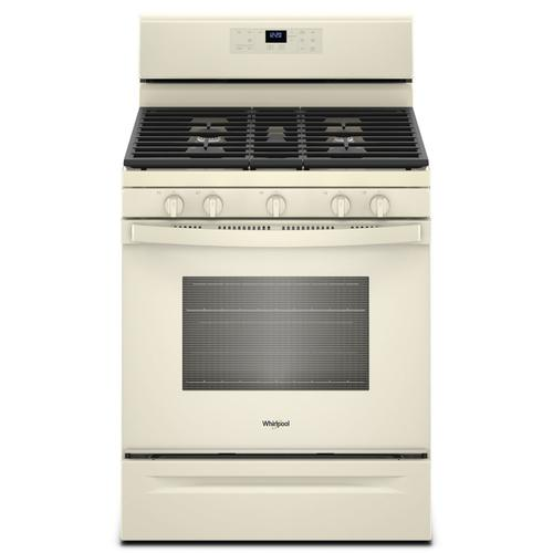 Whirlpool - 5.0 cu. ft. Freestanding Gas Range with Center Oval Burner Biscuit