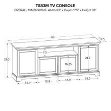 TS83M Custom TV Console