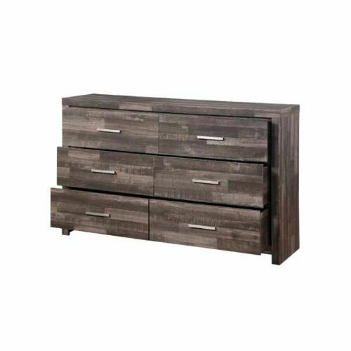 ACME Juniper Dresser - 22165 - Transitional, Rustic - Wood (Solid Pine), Veneer (Melamine/Paper), MDF - Dark Cherry