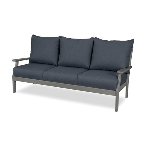 Slate Grey & Sancy Denim Braxton Deep Seating Sofa