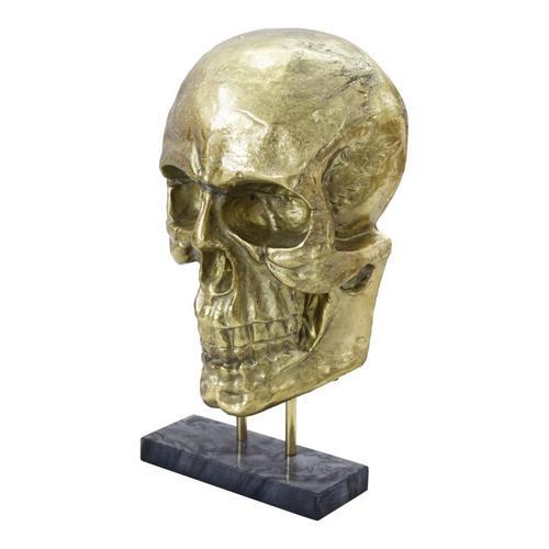 Braincase Skull Statue Gold