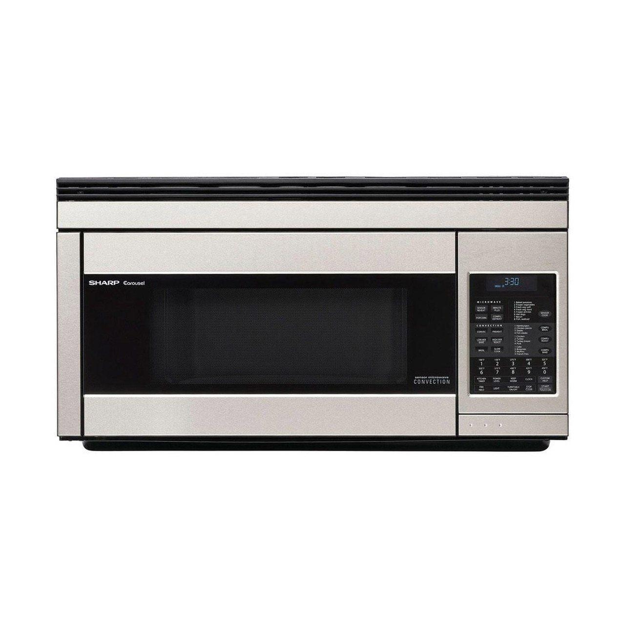 Sharp1.1 Cu. Ft. 850w Sharp Stainless Steel Over-The-Range Convection Microwave Oven