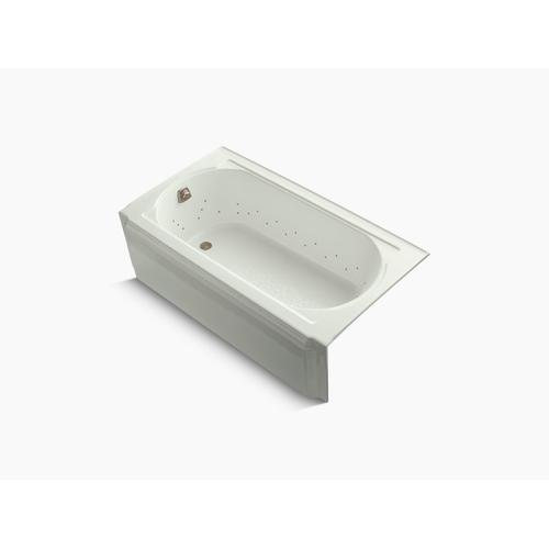 """Dune 60"""" X 34"""" Alcove Bubblemassage Air Bath With Vibrant Brushed Nickel Airjet Color Finish and Left-hand Drain"""