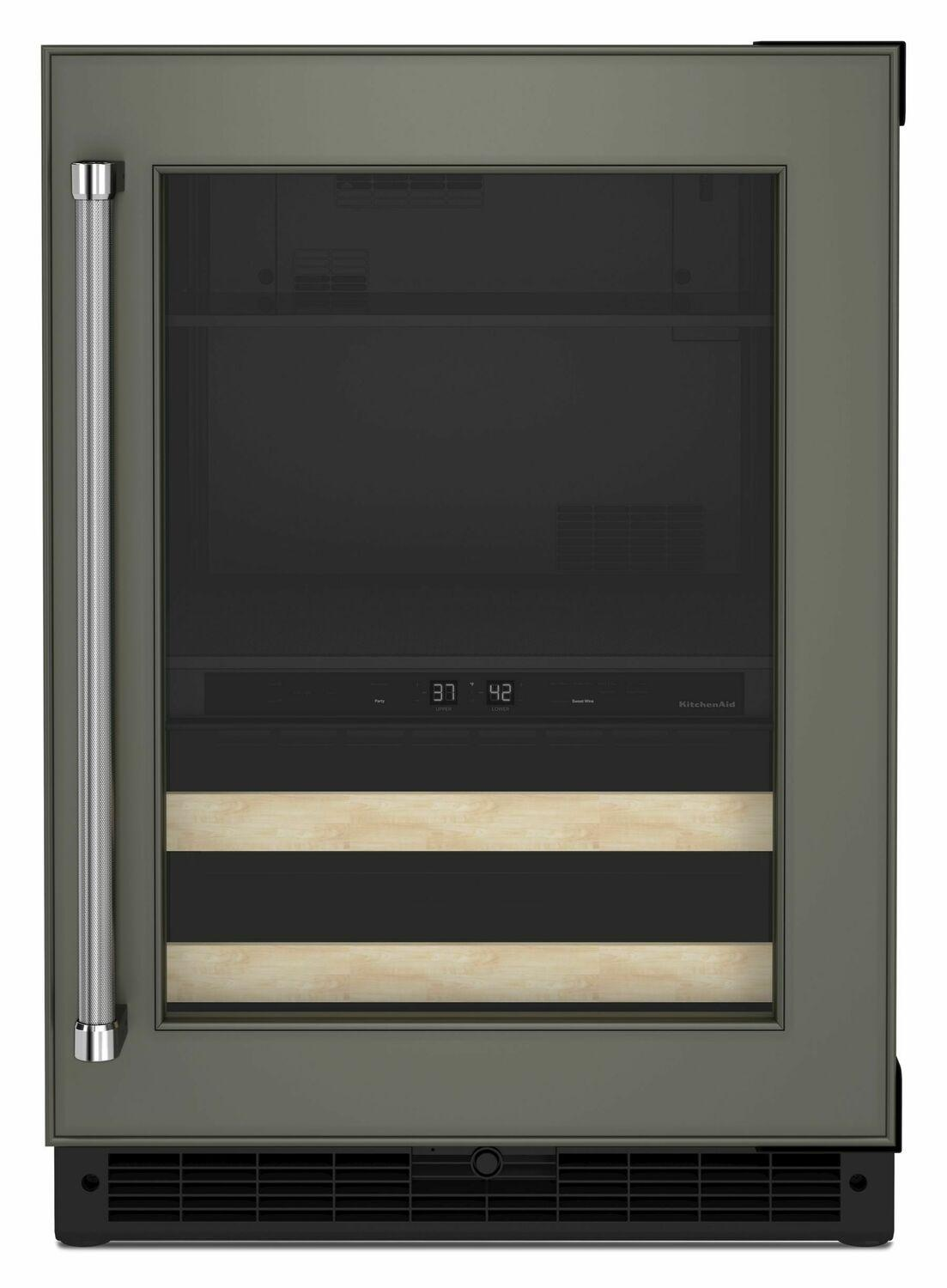 """Kitchenaid24"""" Panel-Ready Beverage Center With Wood-Front Racks - Panel Ready Pa"""