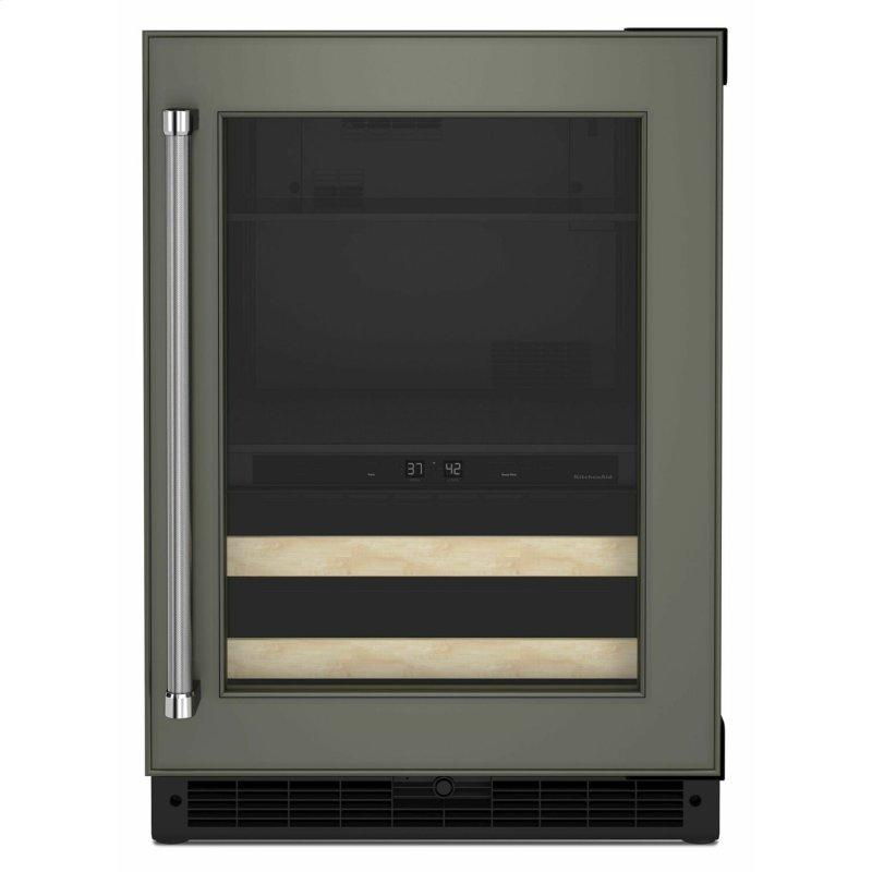 """24"""" Panel-Ready Beverage Center with Wood-Front Racks - Panel Ready PA"""
