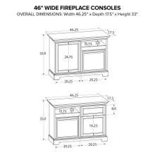 Howard Miller Fireplace Custom TV Console FP46A