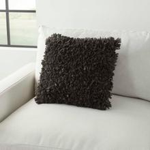 """See Details - Shag Dl660 Charcoal 17"""" X 17"""" Throw Pillow"""