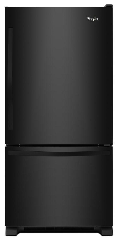 Whirlpool30-Inches Wide Bottom-Freezer Refrigerator With Spillguard™ Glass Shelves - 18.7 Cu. Ft.