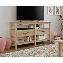 See Details - Traditional-Styled Wood TV Stand with Storage
