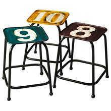 This charming stool set will stylishly enhance your space. Featuring an industrial chic aesthetic, it is hand crafted from iron.