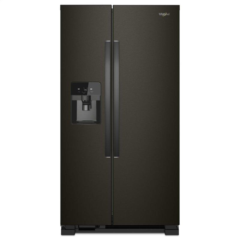 33-inch Wide Side-by-Side Refrigerator - 21 cu. ft. Black Stainless