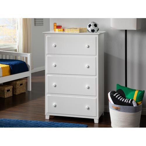 Atlantic Furniture - Atlantic 4 Drawer 48 inch Chest in White