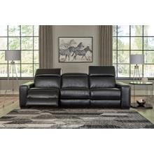 View Product - Powered Reclining Sofa and Loveseat w/Adjustable Headrest