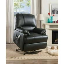 ACME Ixora Recliner w/Power Lift & Massage - 59285 - Black PU