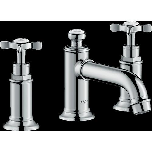 AXOR - Chrome Widespread Faucet 30 with Cross Handles and Pop-Up Drain, 1.2 GPM