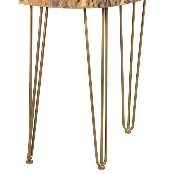 "32"" Gold Hair Pin Legs (set of 3)"