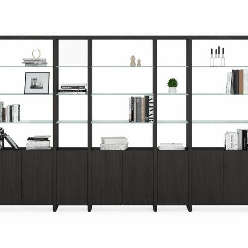 BDI Furniture - Linea Shelves 5801A Single Shelf Extension in Charcoal Stained Ash