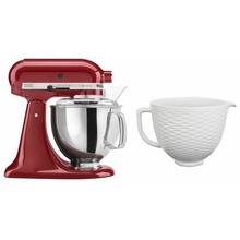 See Details - Exclusive Artisan® Series Stand Mixer & Ceramic Bowl Set - Empire Red