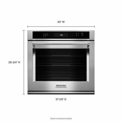 """KitchenAid - 30"""" Single Wall Oven with Even-Heat™ True Convection - Stainless Steel"""