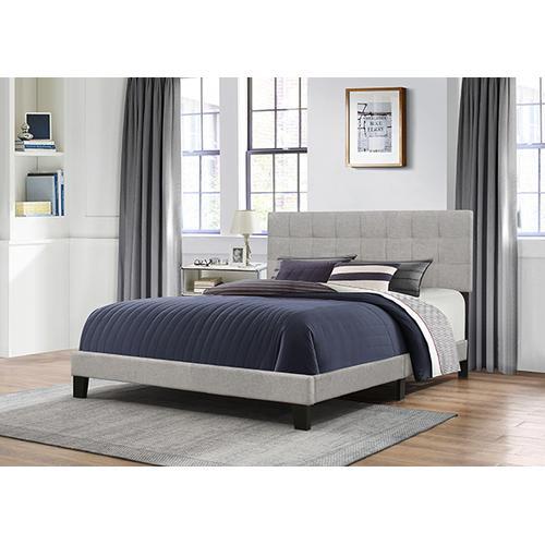 Delaney King Upholstered Bed, Glacier Gray