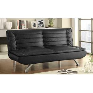 Black Faux Leather Sofa Bed