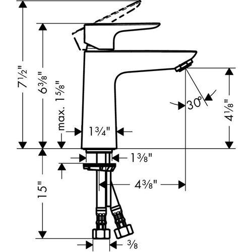 Chrome Single-Hole Faucet 110, 1.0 GPM
