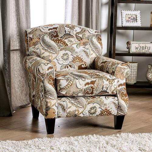 Furniture of America - Floral Chair Begley
