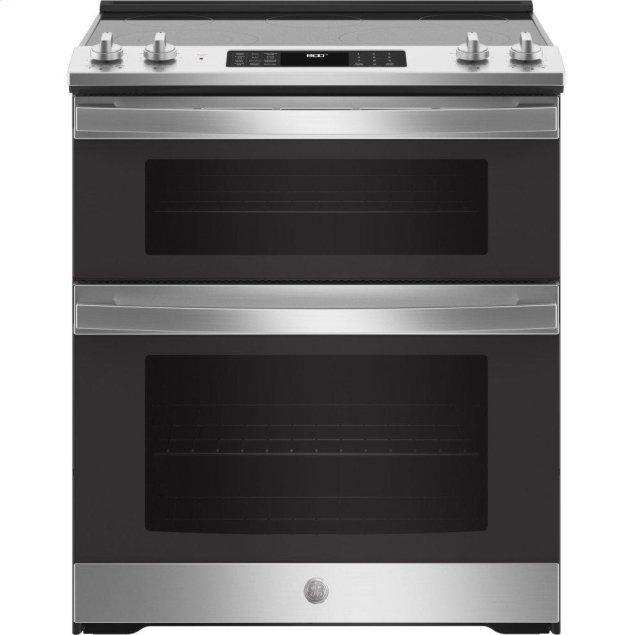 """GE 30"""" Slide-In Electric Convection Double Oven Range"""