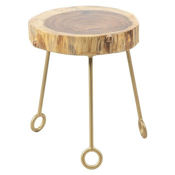 """See Details - Natural Guanacaste 14"""" Round Accent Table Top"""