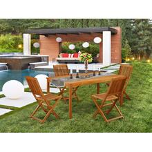 This 5 Pc Acacia Outdoor-Furniture patio Sets provides you one Outdoor-Furniture table and 4 chairs