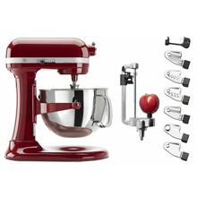 See Details - Exclusive Bowl-Lift Stand Mixer & Spiralizer Attachment Set - Empire Red