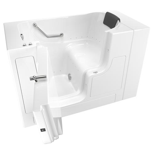 American Standard - Gelcoat Premium Seriers 30x52 Walk-in Tub with Air Spa and Outswing Door, Left Drain  American Standard - White